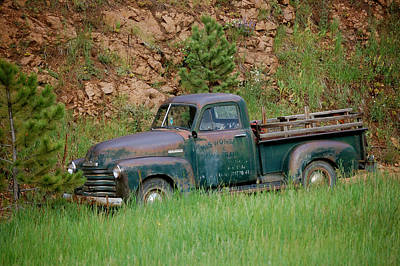 Photograph - Old Farm Truck by Sherlyn Morefield Gregg