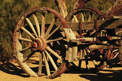 Wooden Farm Wagon Photograph - Old Farm Wagon Furnace Creek, Death by Michel Hersen