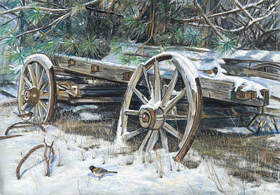 Old Farm Wagon Original by Nick Payne