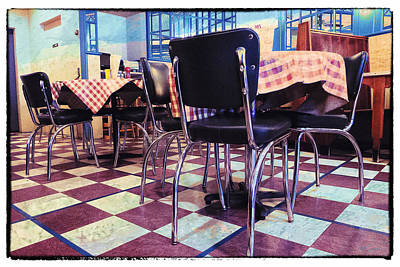 Table Cloth Digital Art - Old Fashion Grill by Susan Stone