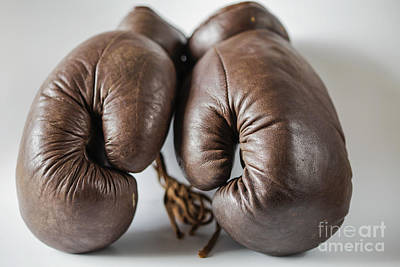 Photograph - Old Fashioned Boxing Gloves by Patricia Hofmeester