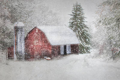 Rural Scenes Digital Art - Old Fashioned Christmas by Lori Deiter
