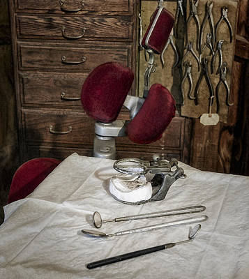 Dentist Photograph - Old Fashioned Dental Instruments by Susan Candelario