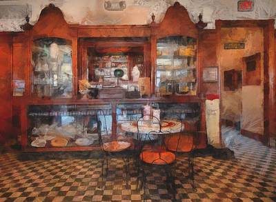 Drug Stores Painting - Old Fashioned Drug Store by L Wright