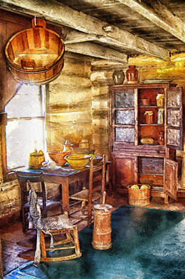 Digital Art - Old Fashioned Kitchen by Mary Almond