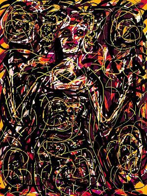 Digital Art - Old Fashioned Lady by Rachel Scott