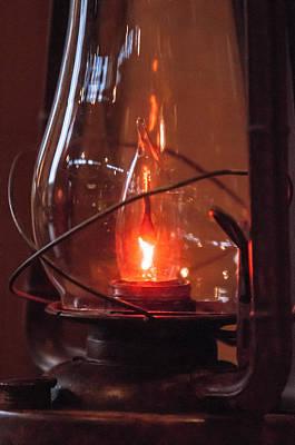 Old Fashioned Lantern In Darkness.   Art Print by Alex Grichenko