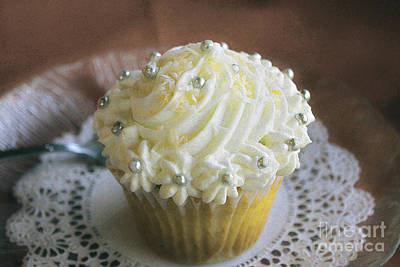 Photograph - Old Fashioned Lemon Cupcake by Nina Silver