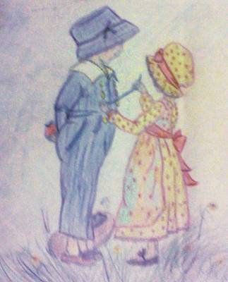 Old Fashioned Romance Art Print by Christy Saunders Church