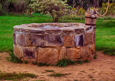 Wa Painting - Old Fashioned Well by Omaste Witkowski