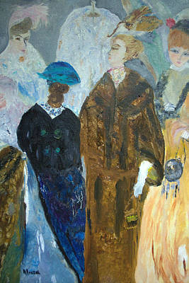Painting - Old Fashioned Women by Aleezah Selinger