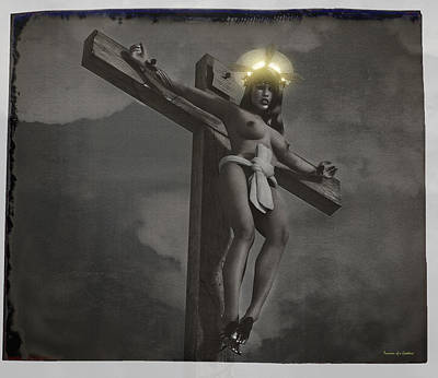 Crucifixion Wall Art - Digital Art - Old Female Crucifix by Ramon Martinez