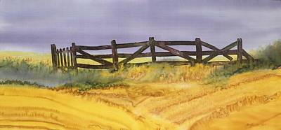 Tapestry - Textile - Old Fence by Carolyn Doe