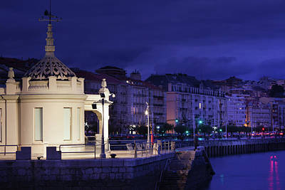 Terminal Photograph - Old Ferry Terminal At Dusk, Estacion by Panoramic Images