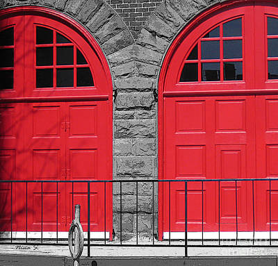 Photograph - Old Fire Hall Doors by Nina Silver