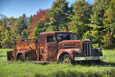 Photograph - Old Fire Truck by Alana Ranney