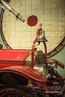 Old Fire Truck Engine Safety Net Art Print