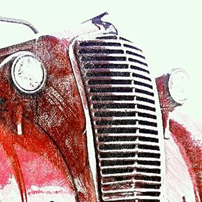 Digital Art - Old Fire Truck by James Eye