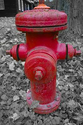 Photograph - Old Fireplug Deerfield Conn. by Joan Reese