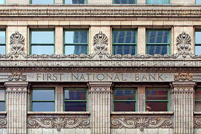 Photograph - Old First National Bank - Building - Omaha by Nikolyn McDonald