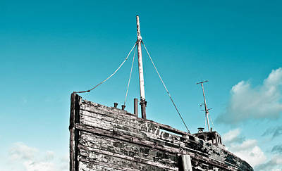 Old Fishing Boat Art Print by Tom Gowanlock