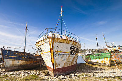 Old Fishing Boats Camaret-sur-mer Brittany France Art Print by Colin and Linda McKie