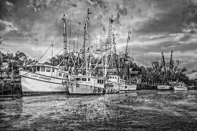 Florida Bridge Photograph - Old Fishing Boats by Debra and Dave Vanderlaan
