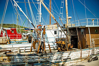 Photograph - Old Fishing Boats Fleete by Brch Photography