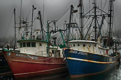 Photograph - Old Fishing Boats by Pamela Hodgdon