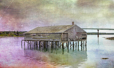 Old Fishing Pier  Art Print