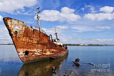 Scrap Photograph - Old Fishing Ship Wreck by Jose Elias - Sofia Pereira