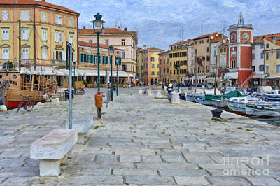 Croatia Painting - Old Fishing Village Of Rovinj by Sheldon Kralstein