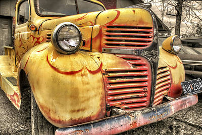 Photograph - Old Flames - Antique Dodge Truck by Jason Politte