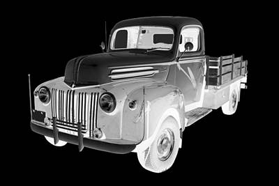 Photograph - Old Flat Bed Ford Work Truck Car Art by Keith Webber Jr