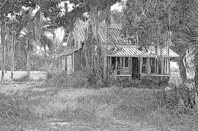 Photograph - Old Florida House Pencil by Ronald T Williams