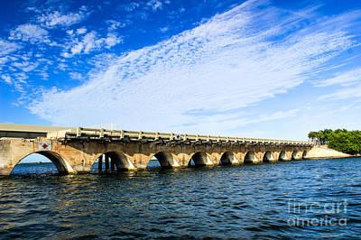 Photograph - Old Florida Keys Bridge by Nancy Yuskaitis