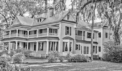 Old Florida Mansion Print by Cliff C Morris Jr