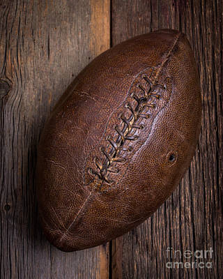 High School Sports Photograph - Old Football by Edward Fielding