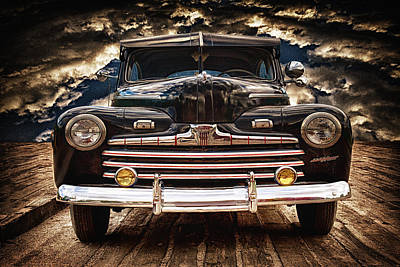 Art Print featuring the photograph Old Ford 2 ... by Chuck Caramella