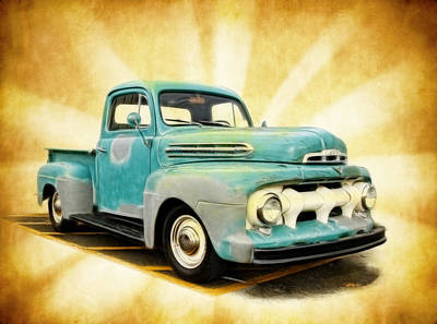 Old Ford Art Art Print by Steve McKinzie