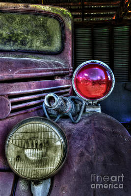 Photograph - Old Ford Firetruck by Ken Johnson
