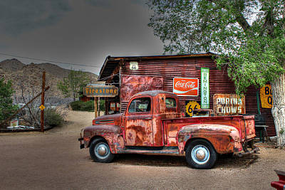 Old Ford Pickup On Route 66 Art Print