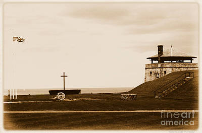 Photograph - Old Fort Niagara North Redoubt Millet Cross And Flags by Rose Santuci-Sofranko