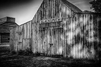 Photograph - Old Fort Wayne Blacksmith Shop by Gene Sherrill