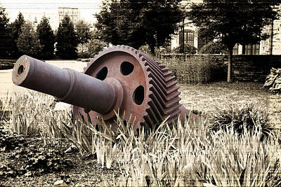 Photograph - Old Foundry Gear by Michael Porchik