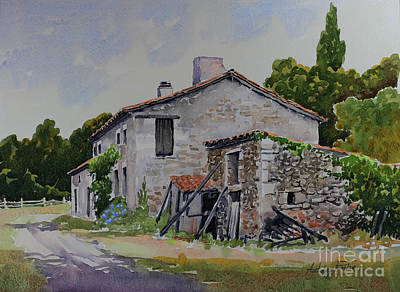 Old French Farmhouse Art Print by Anthony Forster