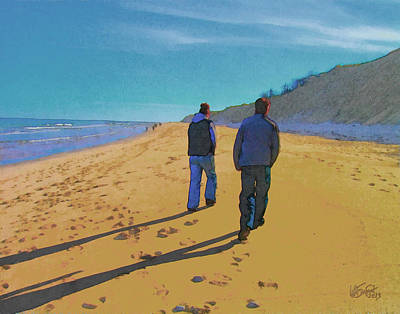 Digital Art - Old Friends Long Shadows by William Sargent