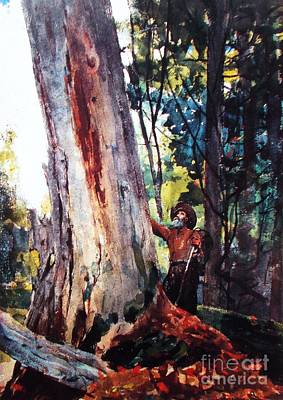 Woodsmen Painting - Old Friends by Pg Reproductions