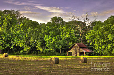 Photograph - Old Friends The Barn And Oak Tree by Reid Callaway