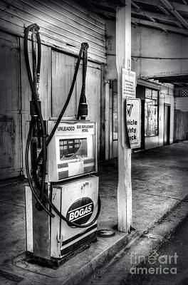 Photograph - Old Fuel Pump - Black And White 2 by Kaye Menner